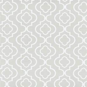 Wallpaper Contemporary White Trellis on Putty Gray ...