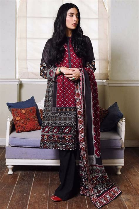 khaadi winter collection cambric dresses designs