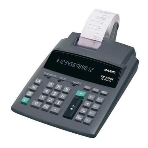 calcolatrice da ufficio calcolatrice scrivente casio da ufficio fr 2650t in offerta