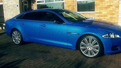 Jaguar XJ L Wrap : Avery Dennison SW900 Diamond Blue Vinyl ...