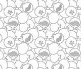 Pomegranate Coloring Outlines Spoonflower Fabric sketch template
