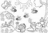 Coloring Insect Pages Bumblebee Animal sketch template