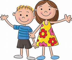 Brother And Sister Clipart - ClipartXtras