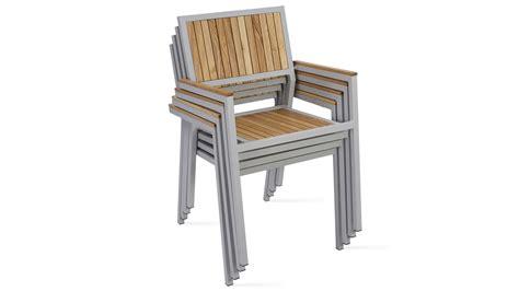 chaise de jardin fauteuil de jardin en bois et aluminium