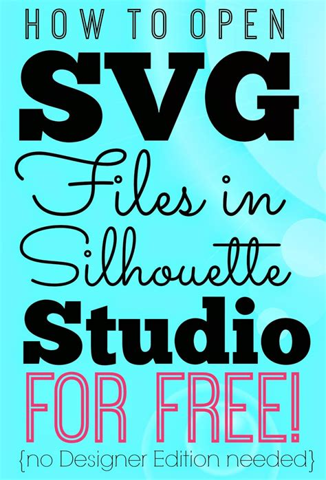 free silhouette cameo designs opening svgs in silhouette studio for free without
