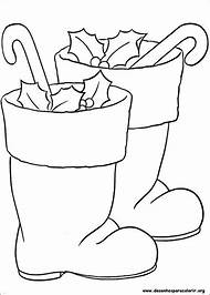 santa boots christmas coloring pages