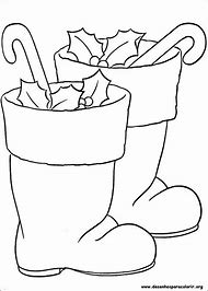 santa boots christmas coloring pages