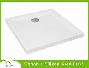 Extra Tiefe Duschwanne : duschwanne duschtasse rechteck viereck flach acryl 90 x 90 ~ Michelbontemps.com Haus und Dekorationen