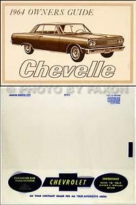 1964 Chevelle  Malibu And El Camino Repair Shop Manual