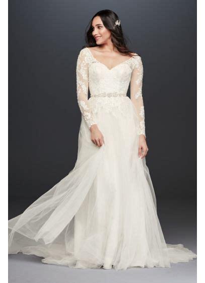 long sleeve wedding dress    davids bridal