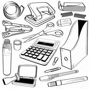 Office Stationery Tool Doodle  U2014 Stock Vector  U00a9 Leremy  7096963
