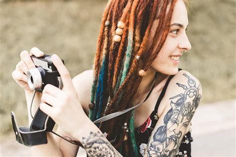 dreadlock hairstyles  white girls  pull