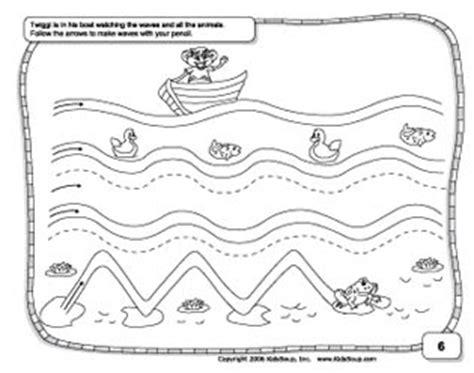 pre writing skills preschool worksheet kidssoup 608 | wavy lines prewriting