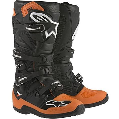 motocross boots size 11 alpinestars mx tech 7 motocross boots black orange