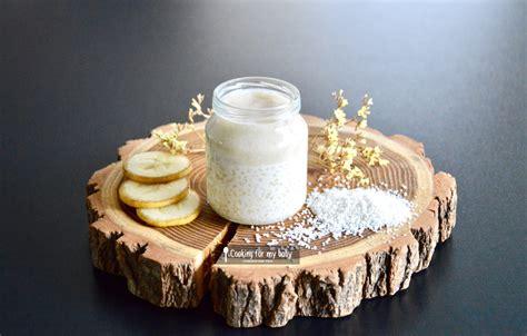 cuisiner avec du lait de coco recette de tapioca au lait de coco et crème de banane pour