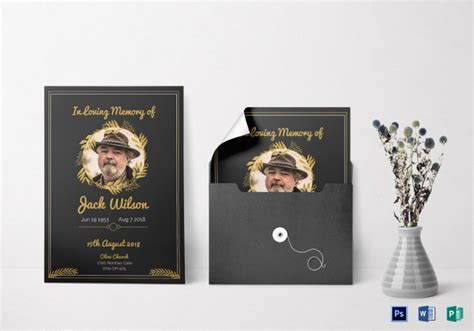 funeral invitation templates  psd vector eps