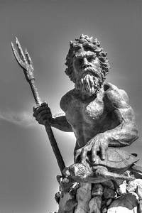 King Neptune Black And White Photograph by Shannon Louder