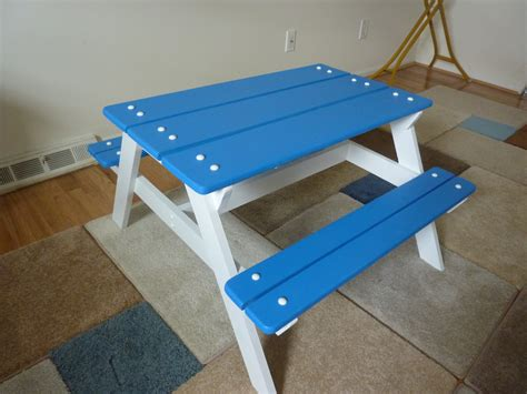 white preschool picnic table diy projects 447 | 3154842872 1394490791