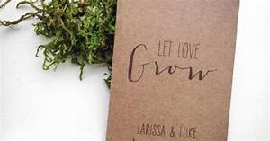 Rustic Personalized Seed Packet Wedding Favors by