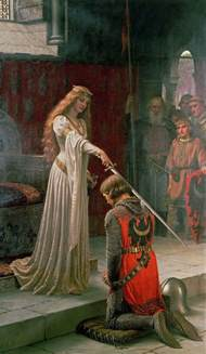 one year one painting a day edmund blair leighton and god speed - Robes Mã Re Du Mariã