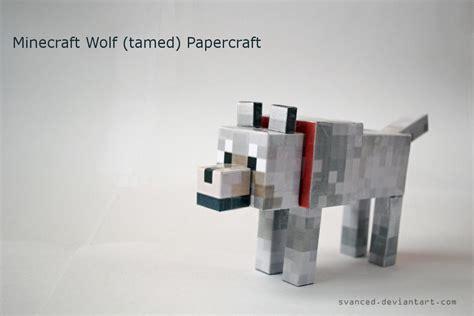minecraft wolf tamed papercraft   svanced