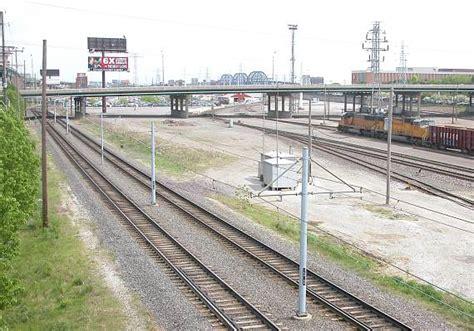 St Louis Light Rail by Another River Bridge