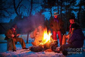 Cowboy Campfire Photograph by Inge Johnsson