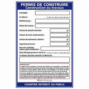 Panneau De Permis De Construire : permis de construire w1032 ~ Dailycaller-alerts.com Idées de Décoration