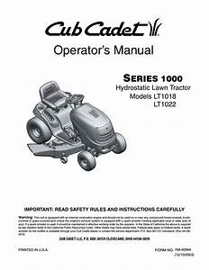 Cub Cadet Lt1022 User Manual
