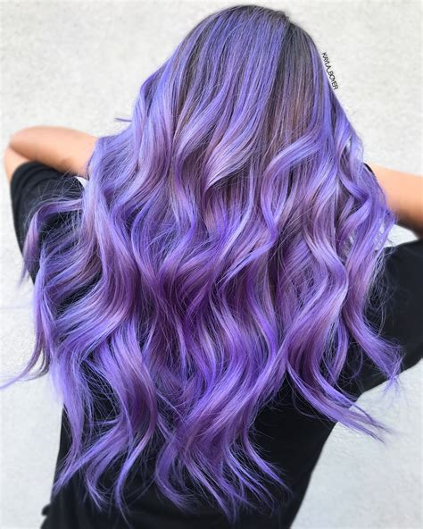 violet hair color the pantone color of the year ultra violet bangstyle