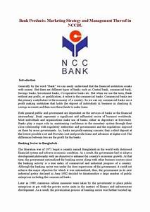Ncc bank marketing strategy and management thereof by Md ...