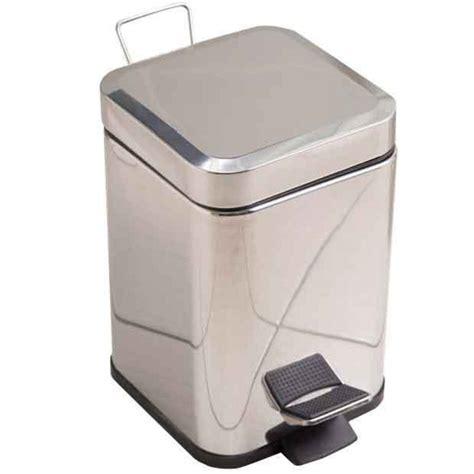 poubelle de salle de bains chrom 233 e carr 233 e salle de bains