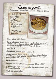 liste de recette de cuisine mon livre de recettes créer télécharger et imprimer