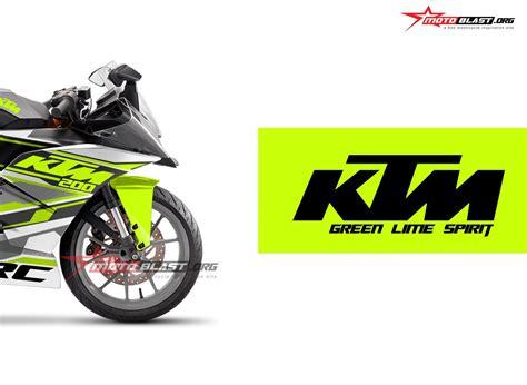 Gambar Motor Ktm Rc 200 by Modifikasi Striping Ktm Rc 200 White Green Spirit