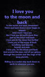 i love you to the moon and back galaxies vibes