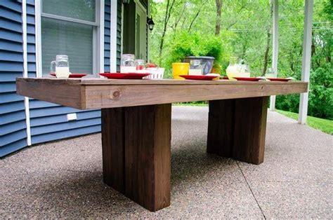 diy outdoor table  bench design diy