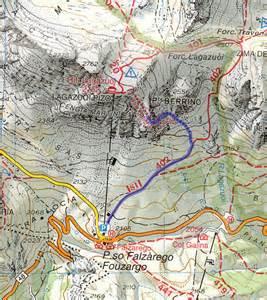 Via Ferrata Italy Map