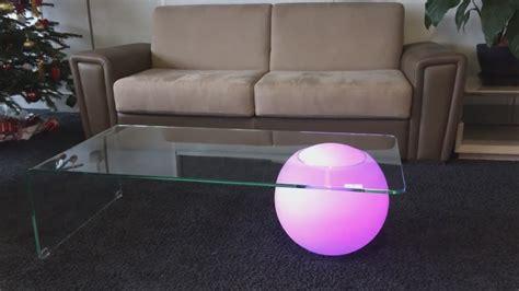 Table Basse Design Verre Lumineuse Led