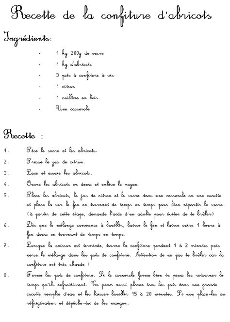 recette de cuisine a imprimer recettes illustrées pour les enfants sur tête à modeler