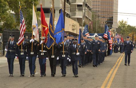 Veterans Day Parade Troops Through Downtown