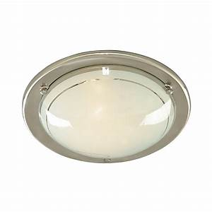 Ceiling light fitting flush : Searchlight ss jupiter flush light ceiling fitting