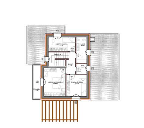 Pianta Casa Unifamiliare by Progetti Villette Unifamiliari