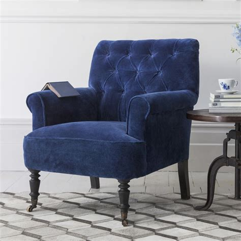 Armchairs For by Pimlico Button Back Velvet Armchair