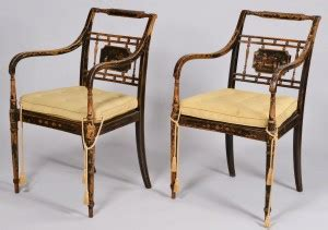 lot 47 regency chinoiserie settee and 2 chairs early