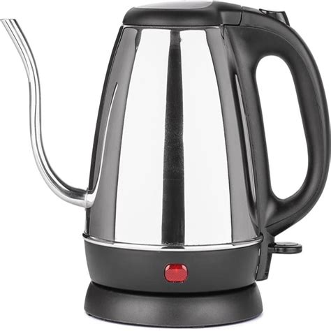 kettle electric coffee spout precise zell thin stainless steel