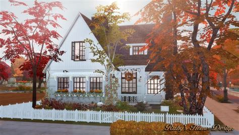 rubys home design autumn cottage sims  downloads