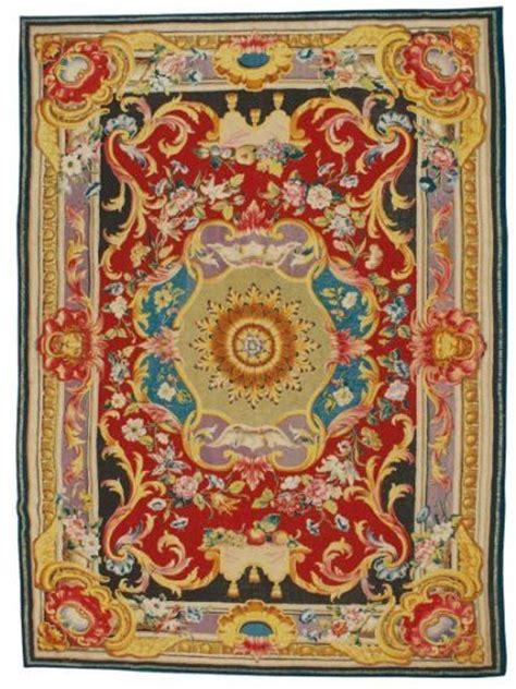 tapis au point ras manufacture royale de santa barbara espagne madrid vers 1760 eloge de l