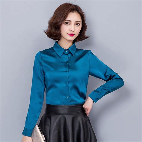 blouson blouse buy wholesale blue satin blouse from china blue