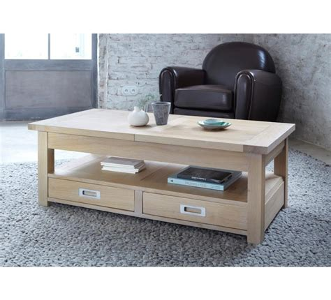 style house canapé table basse chene massif 3706