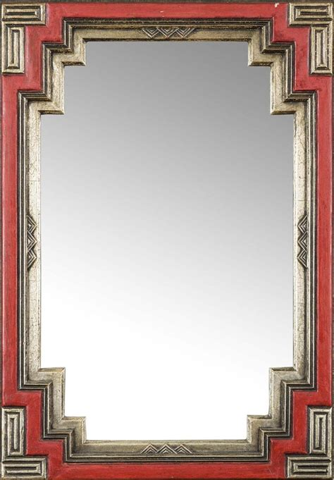 manner  edgar wood art deco wall mirror circa